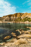 On a beautiful sunny day. Gozo Island, Malta.beach on Malta - Gozo.  Royalty Free Stock Photo