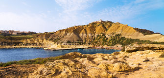 On a beautiful sunny day. Gozo Island, Malta.beach on Malta - Gozo.  Royalty Free Stock Photography