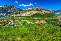 Beautiful sunny day on Lake Garda,Torbole.Italy,Europe Royalty Free Stock Photography