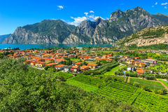 Beautiful sunny day on Lake Garda,Torbole.Italy,Europe Royalty Free Stock Photo