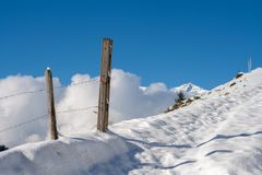 Beautiful sunny day in mountain royalty free stock photo