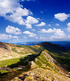 Sunny day in the mountains Royalty Free Stock Images