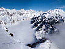 Beautiful sunny day and the snow in the Italian Switzerland. Air Stock Image