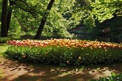 Beautiful sunny morning at the Keukenhof Gardens Royalty Free Stock Image