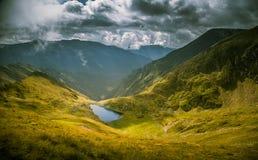 A beautiful, sunny mountain lake in Carpathians Stock Photography