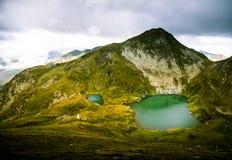 A beautiful, sunny mountain lake in Carpathians Stock Image