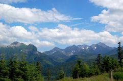 Beautiful  sunny mountain scenery in the holiday the day Royalty Free Stock Images