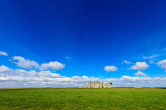 Beautiful sunny Stonehenge landscape England Stock Images