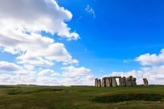 Beautiful sunny Stonehenge landscape England Royalty Free Stock Photos