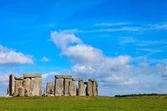 Beautiful sunny Stonehenge landscape England Stock Photos