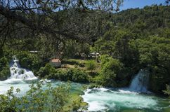 Beautiful sunny summer day in Krka National Park Croatia Europe Royalty Free Stock Images