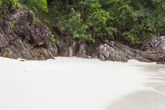 Beautiful sunny tropical beach on the island paradise i. N the middle of the sea Stock Photography