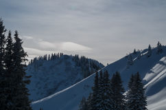 Beautiful sunny winter landscape, Oberstdorf, Germany Royalty Free Stock Image