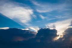 Beautiful sunray with blue sky Royalty Free Stock Images