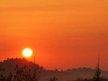 Beautiful sunrise. In National park Royalty Free Stock Photo