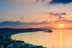 Beautiful sunrise above the Kefalos bay Stock Photos