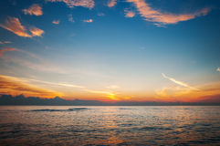 Beautiful sunrise above the sea Royalty Free Stock Photo