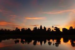 Beautiful sunrise at Angkor Wat temple Stock Photography