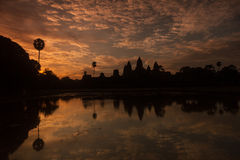 Beautiful sunrise at Angkor Wat temple Royalty Free Stock Image