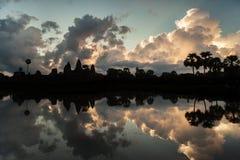 Beautiful sunrise at Angkor Wat temple Royalty Free Stock Photography