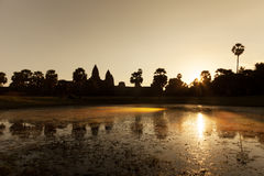 Beautiful sunrise at Angkor Wat temple Royalty Free Stock Images