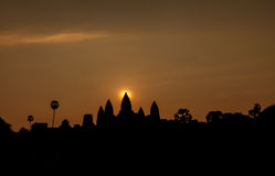 Beautiful sunrise at Angkor Wat temple Stock Images