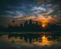 Beautiful sunrise at Ankor Wat, Siem Reap Royalty Free Stock Image