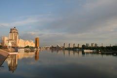 Beautiful sunrise in Astana Stock Image