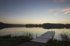 Beautiful sunrise at autumn morning in Katrineholm, Sweden Scandinavia royalty free stock photos