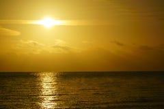Beautiful sunrise at the baltic sea Royalty Free Stock Photo