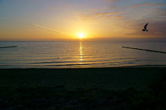 Beautiful sunrise at the baltic sea Royalty Free Stock Photography