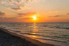 Beautiful sunrise on the beach Royalty Free Stock Photos