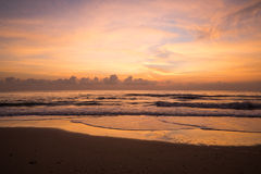 Beautiful sunrise on the beach. Before sunrise Royalty Free Stock Images
