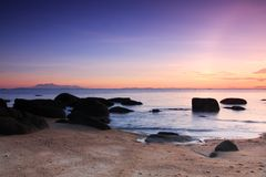 Beautiful sunrise at the beach Royalty Free Stock Photography