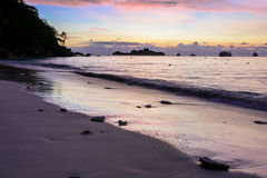 Beautiful sunrise at the beach Royalty Free Stock Images