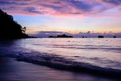 Beautiful sunrise at the beach Royalty Free Stock Photos