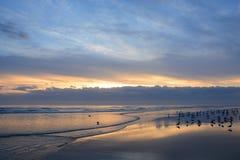 Beautiful sunrise at the beach. Royalty Free Stock Image