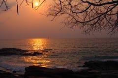 Beautiful sunrise at the beach Stock Photos