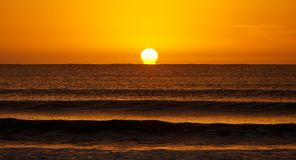 Sunrise in Uruguay. Beautiful sunrise from a beach in Uruguay on the way to Cabo Polonia royalty free stock photography