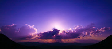 Sunrise over plateau Royalty Free Stock Photos