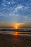 Beautiful sunrise at the Black Sea in Mamaia, Romania Royalty Free Stock Images