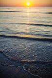 Beautiful sunrise at the Black Sea in Mamaia, Romania Stock Images