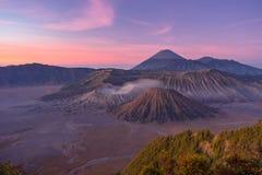 Beautiful sunrise at Bromo mountain Stock Image