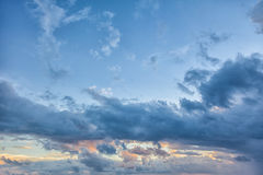 Beautiful sunrise. With clouds in the Indian Ocean Stock Photo
