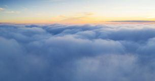 Beautiful sunrise cloudy sky from aerial view stock images
