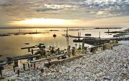 Beautiful sunrise on the coast Royalty Free Stock Photography