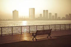 Beautiful sunrise on corniche Stock Photos