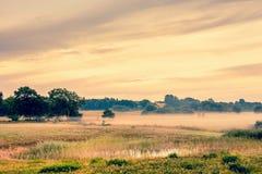 Beautiful sunrise at a countryside Stock Photo