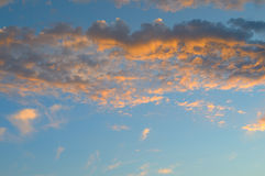 Beautiful sunrise and cumulus clouds Stock Photography