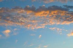 Beautiful sunrise and cumulus clouds Stock Photography